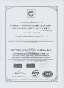 ISO9001-Dewael Biotech